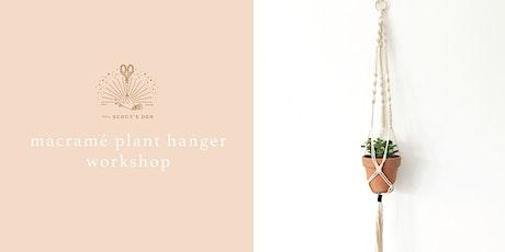 Macramé Plant Hanger Workshop tickets
