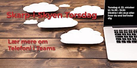 Skarp-i-skyen Oktober 2020 - Teams og Telefoni tickets