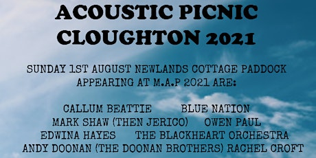 Macmillan Acoustic Picnic Music Festival Cloughton 2021		   MAP2021 tickets