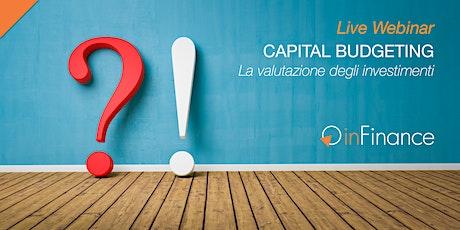 Live Webinar | Capital Budgeting biglietti