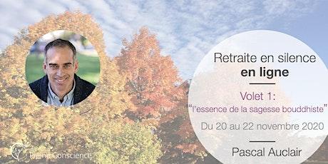 Retraite de pleine conscience en ligne avec Pascal Auclair - novembre 2020 billets