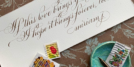 Tina Benavides-Beginning Copperplate Calligraphy tickets