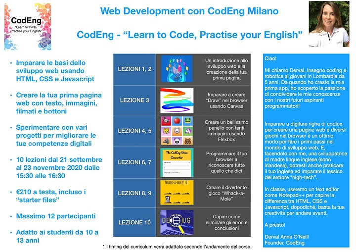 """Web Development con CodEng Milano - """"Learn to Code, Practise your English"""" image"""