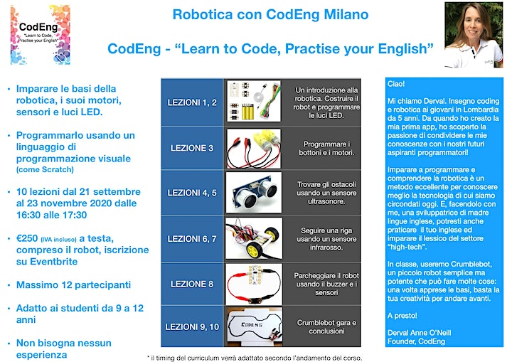 """La Robotica con CodEng Milano - """"Learn to Code, Practise your English"""" image"""