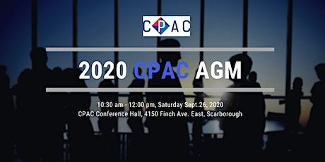 2020 CPAC Annual General Meeting tickets