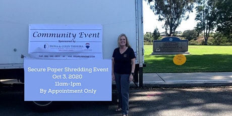 North Clairemont Community Secure Paper Shred tickets