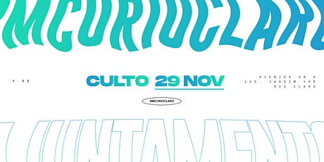 CULTO - 29 NOVEMBRO ingressos