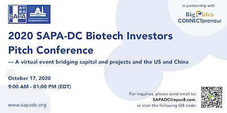 2020 SAPA-DC Biotech Investors Pitch Conference tickets