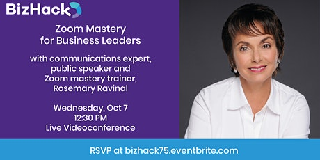 Zoom Mastery for Business Leaders tickets