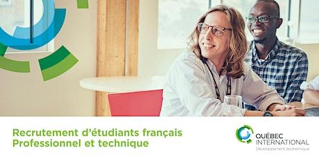 Recrutement d'étudiants français - professionnel et technique (en ligne) billets