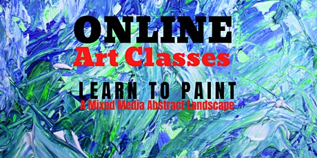 Learn to Paint a Mixed Media Abstract Landscape tickets