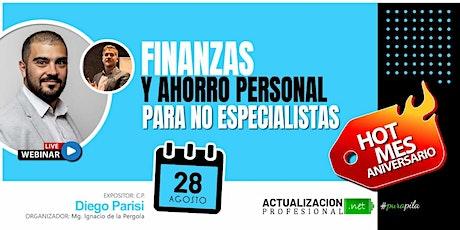 Grabación - Finanzas y Ahorro personal para no especialistas entradas