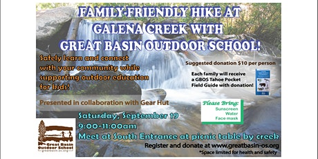 Family-Friendly Guided Hike at Galena Creek tickets