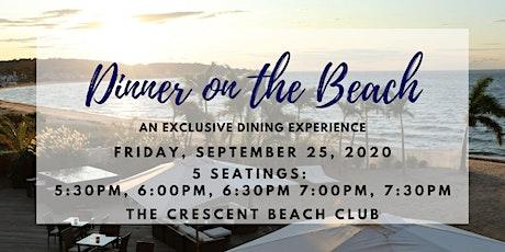 Dinner on the Beach (Friday 9/25) tickets