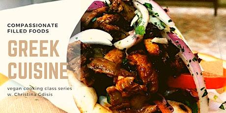 Online Vegan Cooking Classes - Greek Cuisine tickets