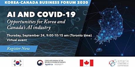Korea-Canada Business Forum 2020: AI & COVID-19 tickets