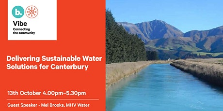 Delivering Sustainable Water Solutions for Canterbury tickets