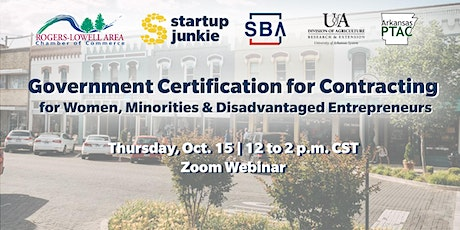 Gov't Certification for Contracting: Women, Minorities, & Disadvantaged tickets