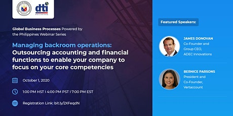 Webinar on Outsourcing Financial Services and Accounting tickets