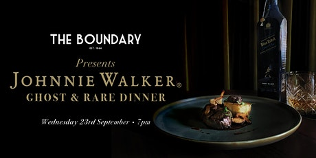 Johnnie Walker Ghost and Rare Dinner tickets