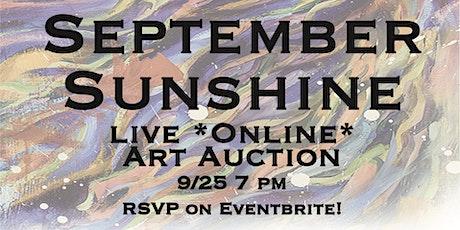 9/25 September Sunshine *Online* Art Auction | Grace Noel Art biglietti