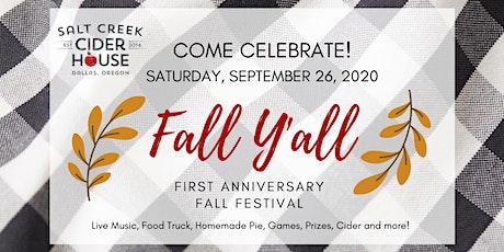 Fall Y'all! Salt Creek Cider House First Anniversary Fall Festival tickets