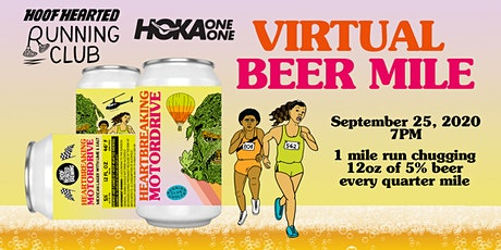 Virtual Beer Mile with Hoof Hearted Running Club & HOKA tickets