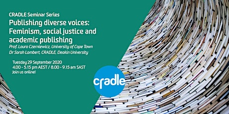 CRADLE Seminar Series: Publishing diverse voices tickets