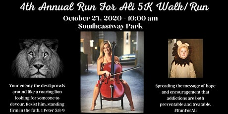 4th Annual Run For Ali 5K Run/Walk tickets