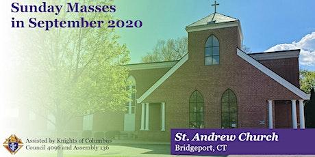 Sunday Masses for September 2020 tickets