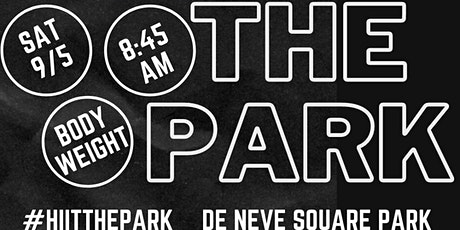 HIIT the Park - Social Distanced Outdoor Park Workout tickets