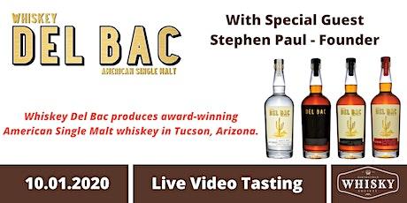 American Single Malt Masterclass Part 2: Whiskey Del Bac tickets