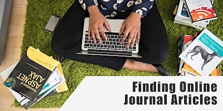 Finding Online Journal Articles tickets