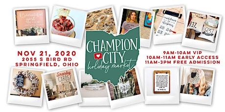 Champion City Holiday Market 2020 tickets
