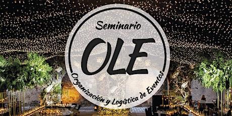 Seminario de organización y logistica de eventos entradas