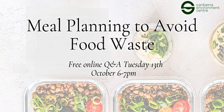 Meal Planning to Avoid Food Waste tickets