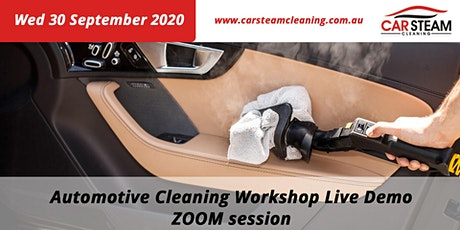 ZOOM Car Steam Cleaning Live Demo tickets