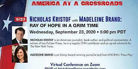 Nicholas Kristof: A Ray of Hope in a Grim Time tickets