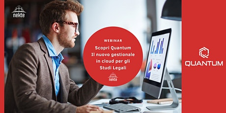 Scopri Quantum: il nuovo gestionale  in cloud per gli  Studi Legali biglietti