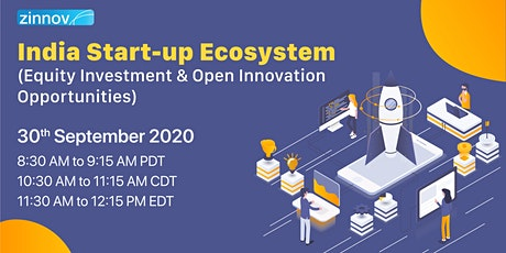India Start-up Ecosystem: Equity Investment & Open Innovation Opportunities tickets