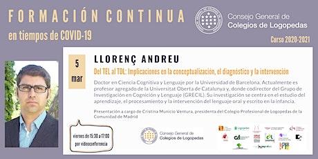 Videoconferencia a cargo de Llorenç Andreu boletos