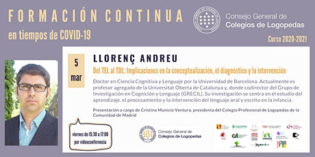 Videoconferencia a cargo de Llorenç Andreu entradas