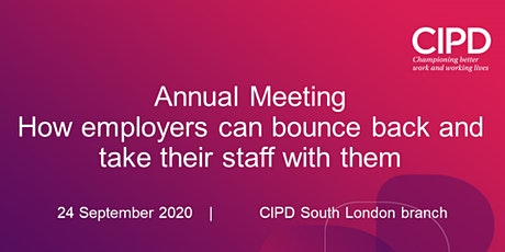 Annual Meeting - How employers can bounce back & take their staff with them tickets