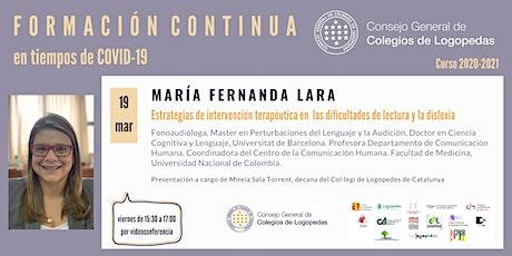 Videoconferencia a cargo de María Fernanda Lara entradas