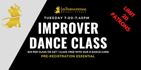 [OCTOBER] 4 Improver Adult Ballroom, Latin & New Vogue Dance Classes tickets