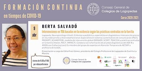 Videoconferencia a cargo de Berta Salvadó boletos
