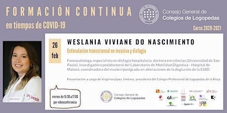 Videoconferencia a cargo de Weslania Viviane do Nascimiento entradas