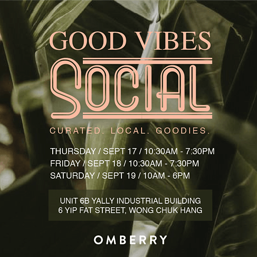 Good Vibes Social by Omberry  logo