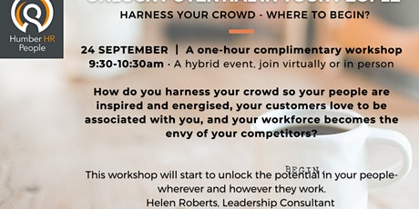 Harness your crowd - inspire and energise your employees tickets