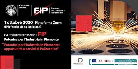 Fotonica per l'Industria in Piemonte: opportunità e servizi al Politecnico biglietti
